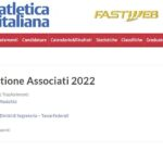 Circolare Fidal 2022 Termini e Modalità Affiliazioni Tesseramenti Trasferimenti 2022